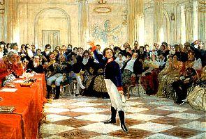 Пушкин в Царском Селе - картина Ильи Репина, 1911